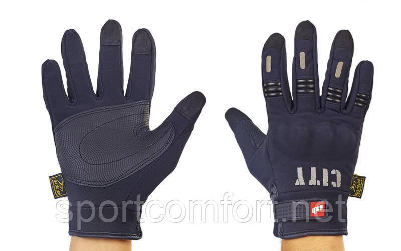 Мотоперчатки MADBIKE CITY M-4541 XL черный