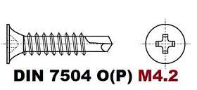 D4.2 07.05 DIN 7504 P (Саморез с потайной головкой и буром)