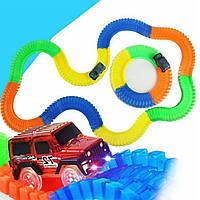 Детский гоночный трек с машинками автотрек Magic Tracks Меджик трек 220 деталей (дитячий гоночний трек)