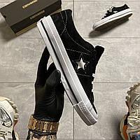 Кеды женские Converse One Star Premium Suede Black .Стильные женские кеды.ТОП качество!!! Реплика