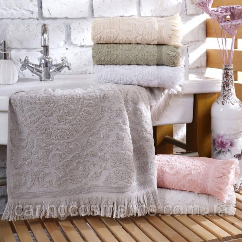 "Полотенце махровое баня.  Vip Cotton ""SIDE"" :: Sikel. 70*140. Турция. Плотность: 500 г/м2"