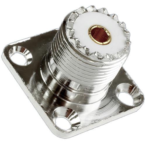 Гнездо UHF с гайкой, монтажное квадратное, с колпачком, UHF гнездо UHF-FF