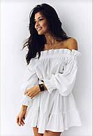 Платье летнее,открытые плечики,6 цветов,универс