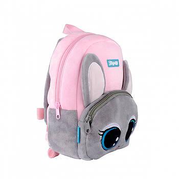 Детский плюшевый дошкольный рюкзак 1Вересня K-42 Mousekin 6л 29х20х11см Розовый (558527)(5056137180066)