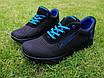 Кросівки чоловічі літні сітка високі 40-45 синій, фото 5