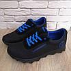 Кросівки чоловічі літні сітка високі 40-45 синій, фото 9