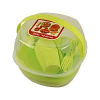 Посуда для пикника пластиковый контейнер 48 предметов