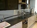 Стеклянный кухонный фартук (черно-белый), фото 2