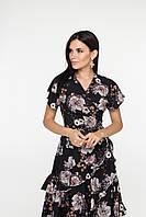 Легкое воздушное летнее платье на запах, фото 1