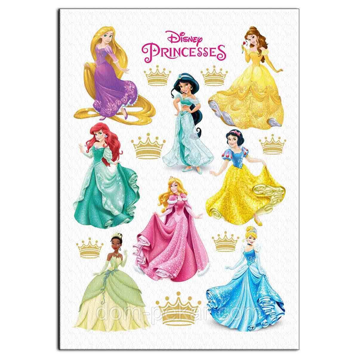 Принцессы 5 10 см вафельная картинка