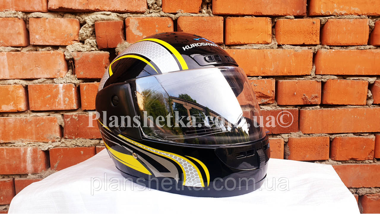 Шоломи для мотоциклів Hel-Met 101 чорний жовтий малюнок
