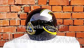 Шоломи для мотоциклів Hel-Met 101 чорний жовтий малюнок, фото 3