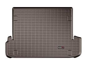 Ковер резиновый WeatherTech Toyota LC150 2009-2018 в багажник какао (для 2-х зонного климата) c 3-м рядом