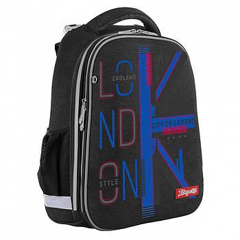 Школьный ортопедический рюкзак 1Вересня Н-12 London 38х29х15см Черный (558038)(5056137157471)