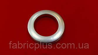Люверсы  пластик  5,5*3,5 см цвет серебро матовые
