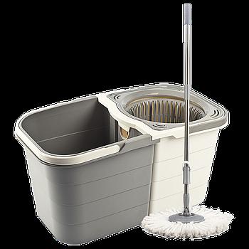 Набор для уборки Planet Spin Mop Duo 19 л кремово-серый