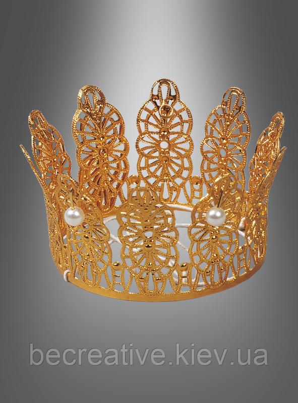 Карнавальная золотая корона для образа