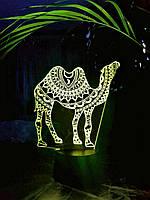 3D светильник 3DTOYSLAMP Верблюд