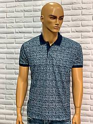 Чоловіча футболка з коміром синій