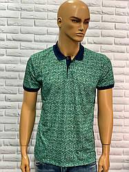 Чоловіча футболка з коміром зелений