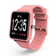 Умные смарт-часы фитнес браслет JETIX FitPro с GPS трекером (Coral), фото 2