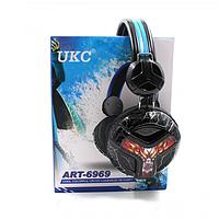 Игровые проводные наушники с микрофоном UKC E001 Чёрные