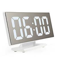 Настольные зеркальные часы UKC DS-3618L с подсветкой White (PRO3618L-WW)