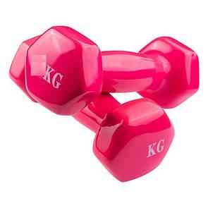 Гантели для фитнеса, винил,1,5 кг х 2 шт.