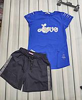 """Комплект на девочку футболка и шортики """" Love"""", фото 1"""