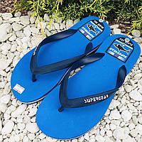 Пляжные мужские вьетнамки, легкая летняя обувь р38-41 ТМ Super Gear - Венгрия Синие Черные