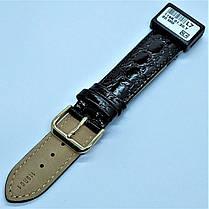 20 мм Кожаный Ремешок для часов CONDOR 119.20.01 Черный Ремешок на часы из Натуральной кожи, фото 3