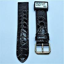 20 мм Кожаный Ремешок для часов CONDOR 119.20.01 Черный Ремешок на часы из Натуральной кожи, фото 2