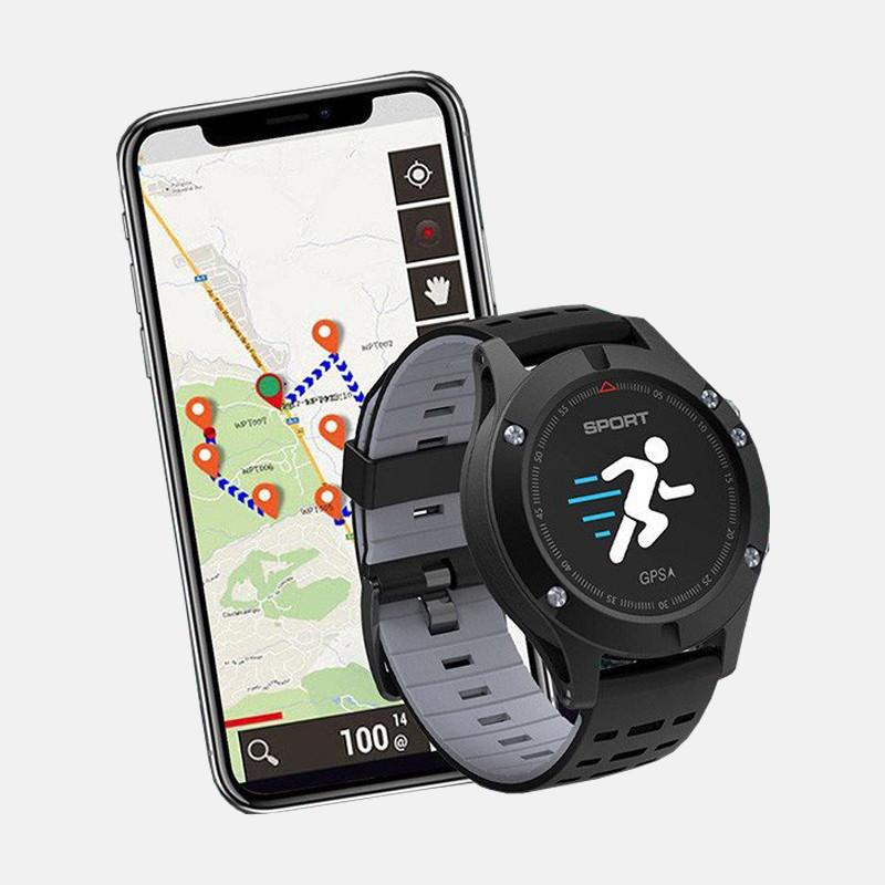 Спортивные часы JETIX F5 с GPS трекером и пульсометром (Black Grey)