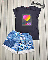 Комплект на девочку футболка и шортики, фото 1