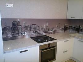 Скляний кухонний фартух ч/б