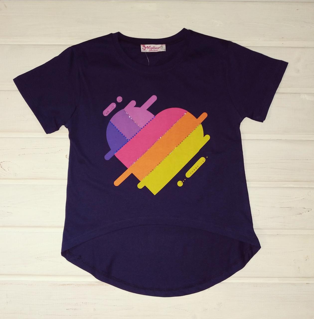 Стильная футболка для девочки Размер 128