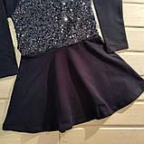 ✅Платье нарядное для девочки синее  с паетками  Размер  140, фото 2