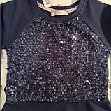 ✅Платье нарядное для девочки синее  с паетками  Размер  140, фото 3
