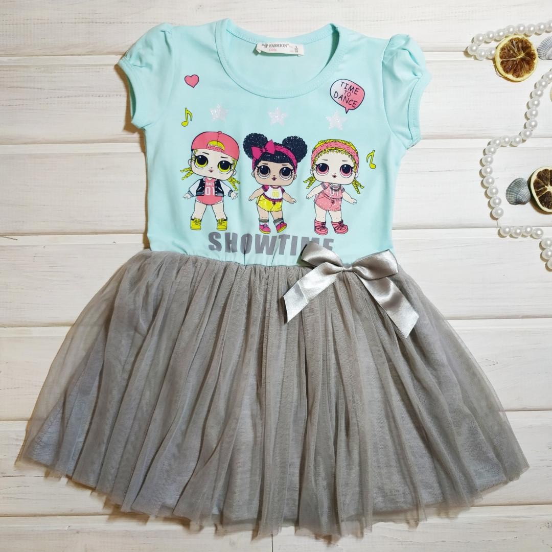 Платье летнее для девочки нарядное. Размеры 98 104 128
