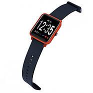 Умные спортивные часы Фитнес браслет JETIX FitPro с GPS трекером - (Black-Orange), фото 2