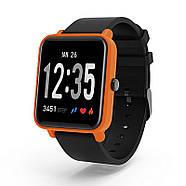 Умные спортивные часы Фитнес браслет JETIX FitPro с GPS трекером - (Black-Orange), фото 3