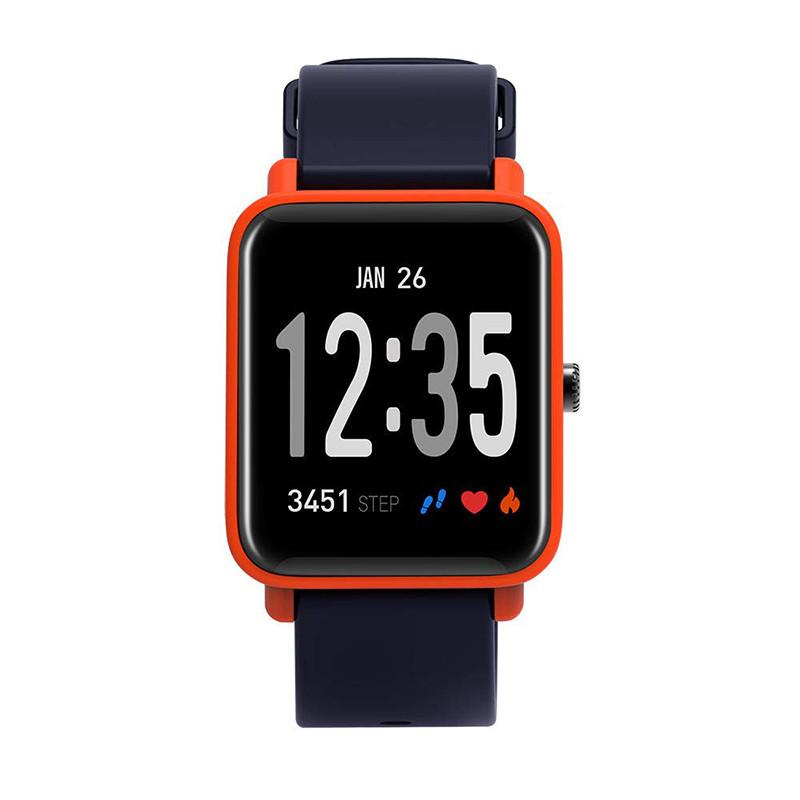 Умные спортивные часы Фитнес браслет JETIX FitPro с GPS трекером - (Black-Orange)