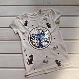 Футболка для девочки молочная Размеры 104 110 116 128, фото 2