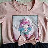 ✅Платье нарядное для девочки розовое с синим   Размеры 92 110, фото 3