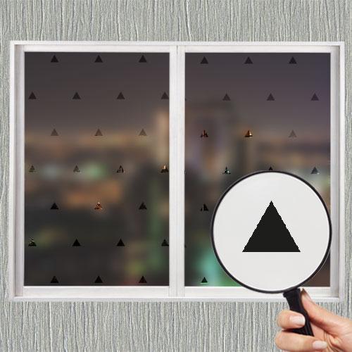 Самоклеющаяся матирующая наклейка на окно В треугольники (матовая пленка на стекло зеркало от солнца) матовая