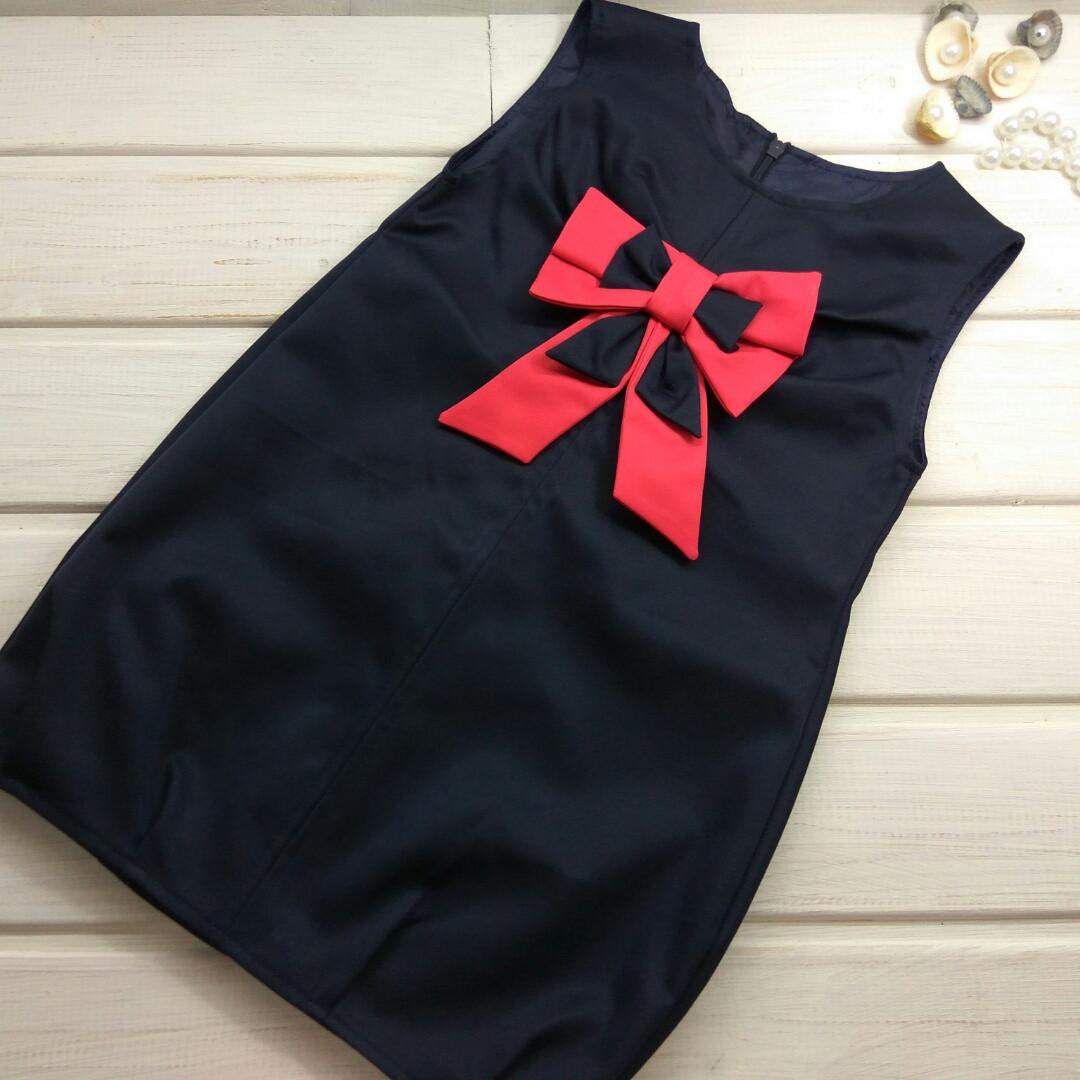 Платье для девочки с красивым бантом. Украина. Размеры 104 116