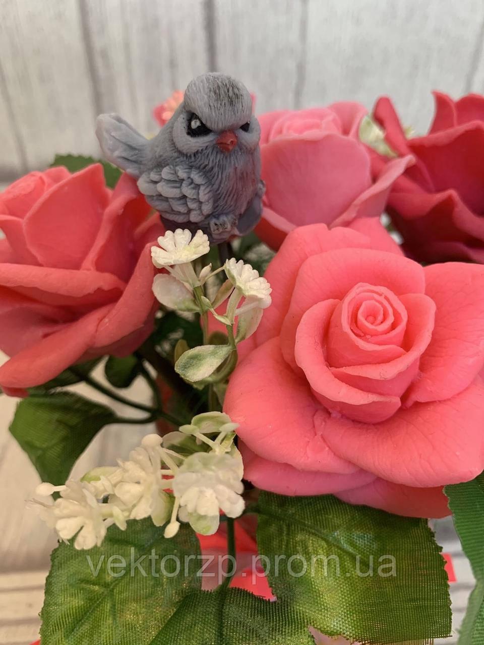 Букет Розы из мыла
