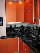 Стеклянный фартук на кухню с рисунком