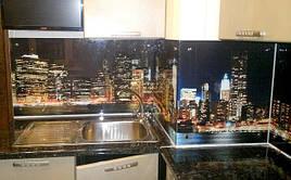 Скляний кухонний фартух Night City купити в Павлограді
