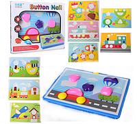 """Детская мозаика для малышей """"Коробочка чудес"""" (набор из 9 картинок) крупные детали и шаблоны"""